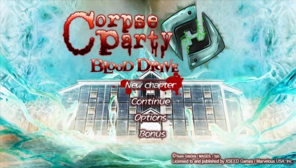 Corpse Party: Blood Drive | Title Screen