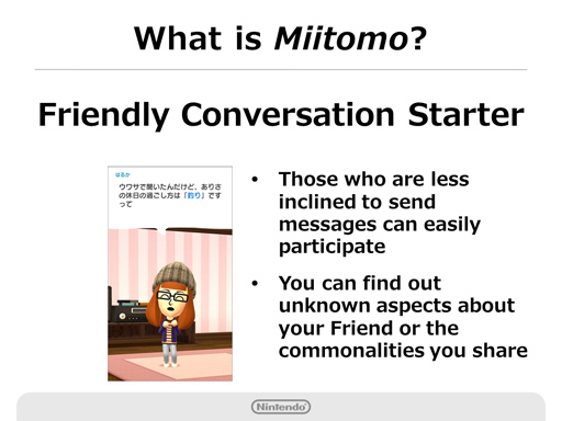 Nintendo Q2 2016 Briefing - Miitomo