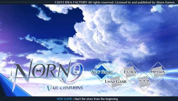Norn9 | Title Screen