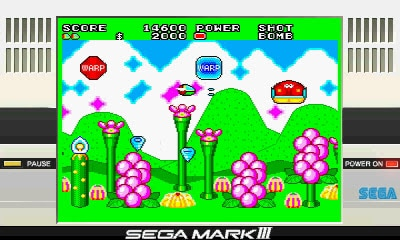 Take a psychedelic trip, man, in Fantasy Zone II: The Tears of Opa-Opa.