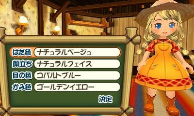 Story of Seasons: Good Friends of Three Villages - Character Customization