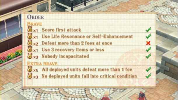 Summon Night 5 | Orders Screen