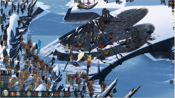 The Banner Saga 2 Combat Screen