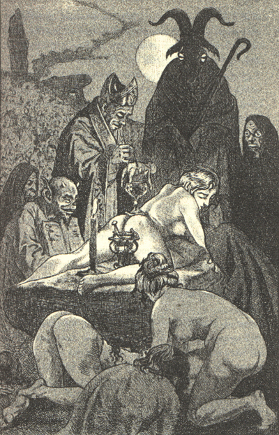 An illustration by Martin van Maele for the 1911 edition of La Sorcière.