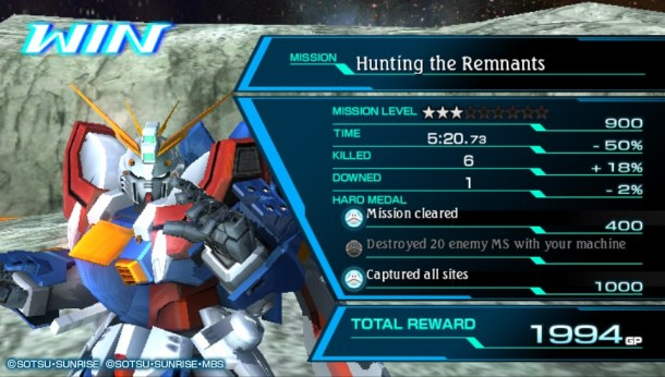 Gundam Extreme VS Force | results