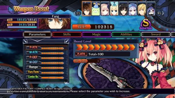 Fairy Fencer F: Advent Dark Force | Weapon Boost