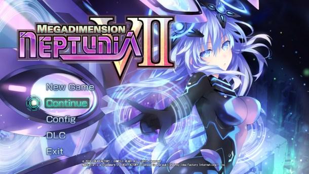 Megadimension Neptunia V-II PC Title Screen