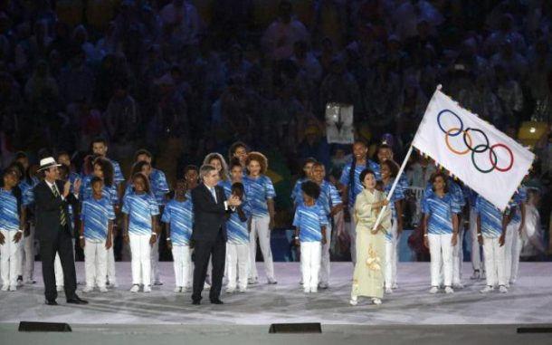 Japan's Prime Minister | Olympic Flag Handoff