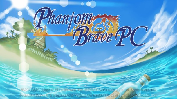 Phantom Brave PC Title Screen