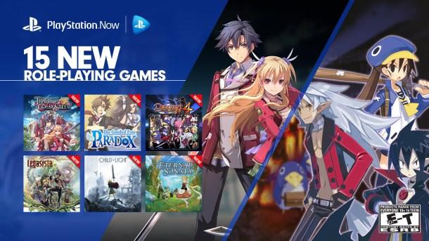 PlayStation Now 15 RPG Offerings
