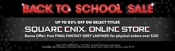 Square-Enix | Back to school sale