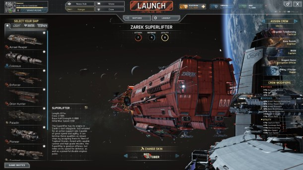 Fractured Space | Ship selection