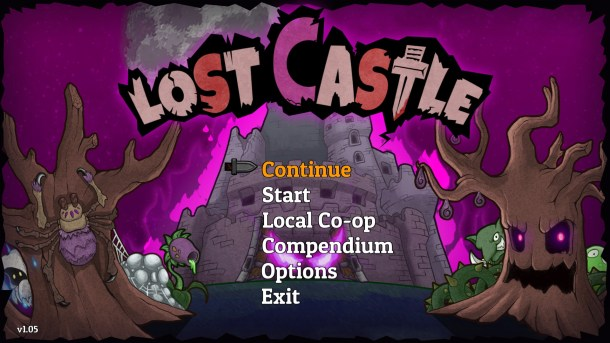 Lost Castle Title Screen