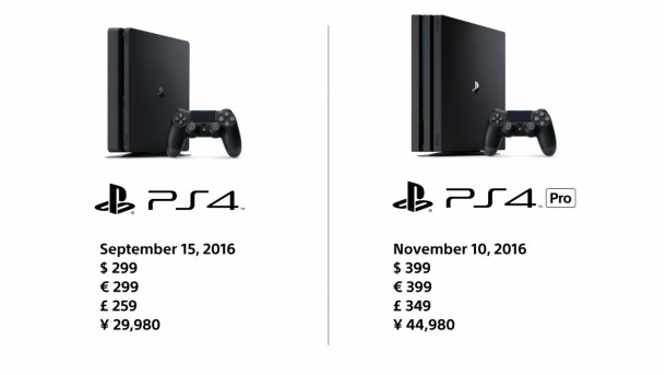 PlayStation 4 Pro Comparison Image