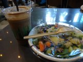 Finally tried Juicy Cafe. Great smoothie, okay salad