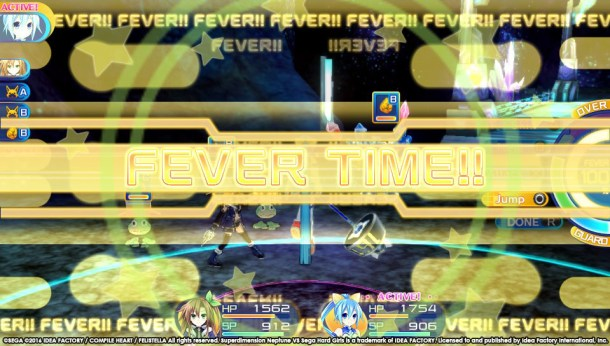 Superdimension Neptune Vs SEGA Hard Girls | Fever