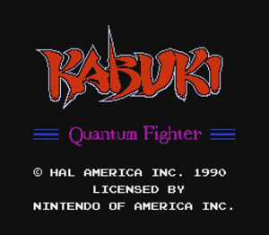 Kabuki Quantum Fighter| Title Screen