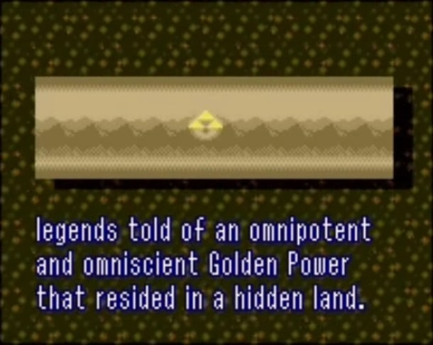 A Link to the Past   Triforce Myth