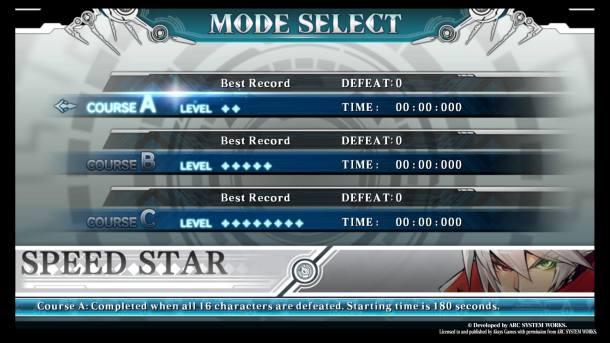 BlazBlue Central Fiction   Speed Star