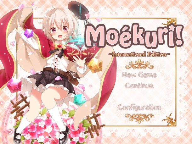 Moékuri! Title Screen