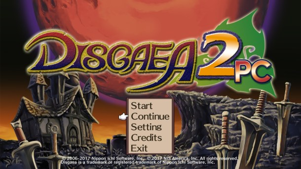 Disgaea 2 PC Title Screen