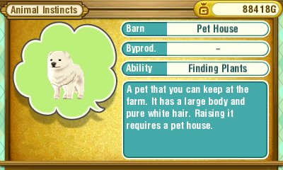 Story of Seasons: Trio of Towns | Pet Abilities