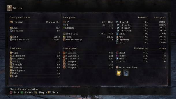 Dark Souls III: The Ringed City | Character