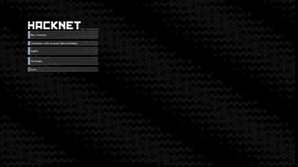 Hacknet | Menu