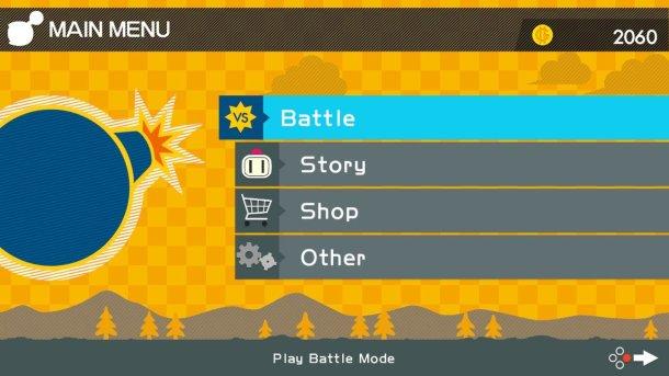 Super Bomberman R | Game select