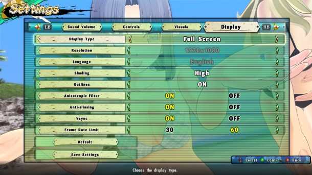 Senran Kagura Estival Versus | Graphical options