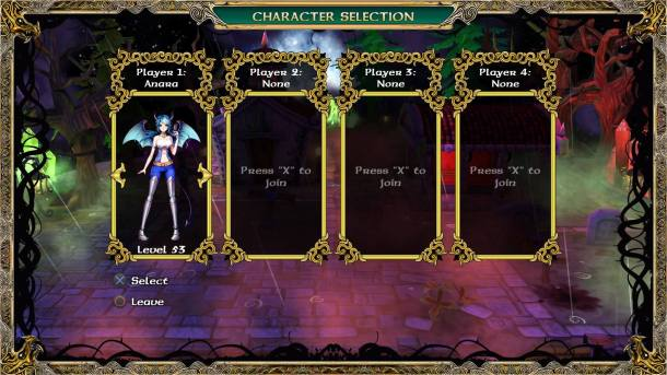 Demon's Crystals | Player Select