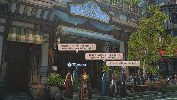 Valkyria Revolution | Shopping for new equipment