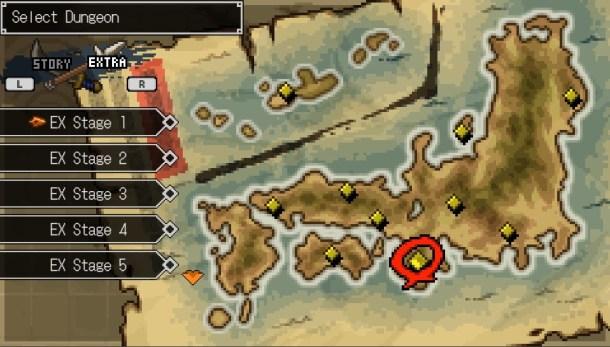 Cladun Returns   Dungeon selection map