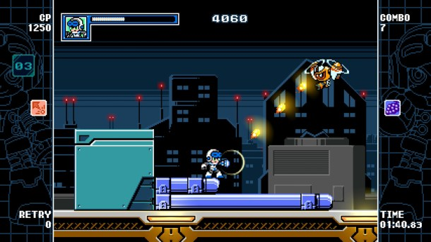 Mighty Gunvolt Burst | Diagonal Shot