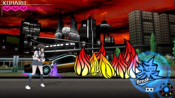 Ultra Despair Girls | Stylized fire