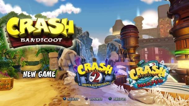 Crash Bandicoot N Sane Trilogy Title Screen