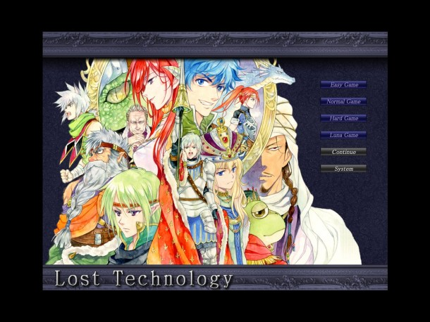 Lost Technology | The Main Menu.