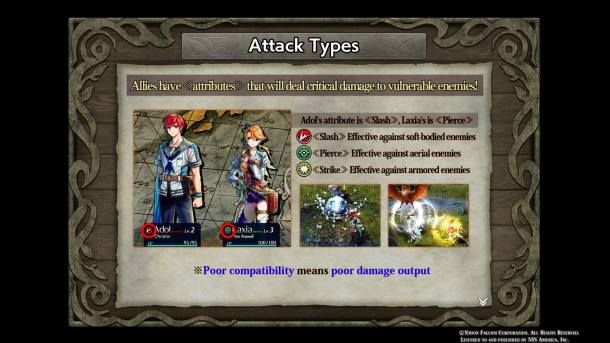 Ys VIII Lacrimosa of DANA | Attack Types