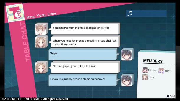 Blue Reflection | Chat system