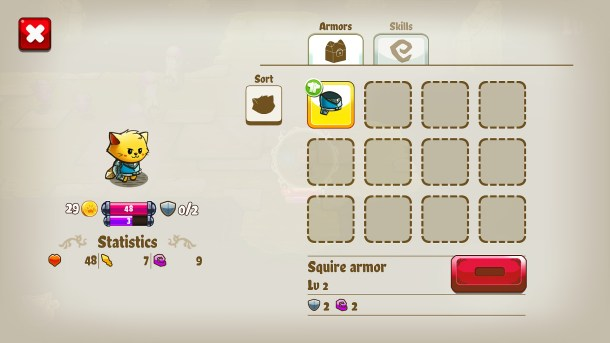 Cat Quest | Equipment Screen