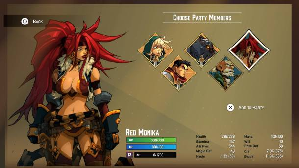 Battle Chasers Nightwar | Party Selection