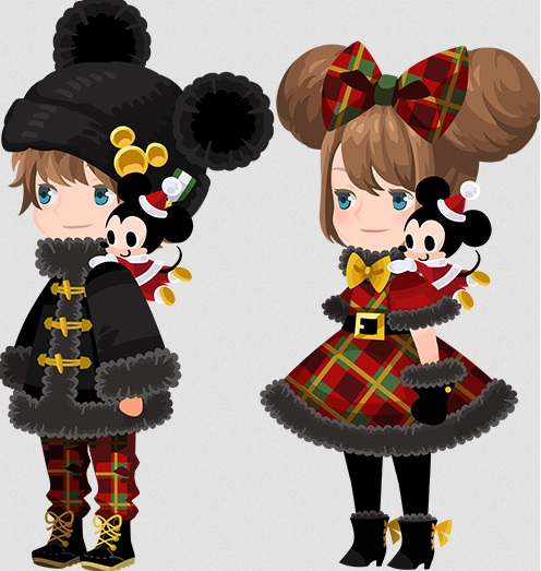 Kingdom Hearts | Winter Mickey outfits