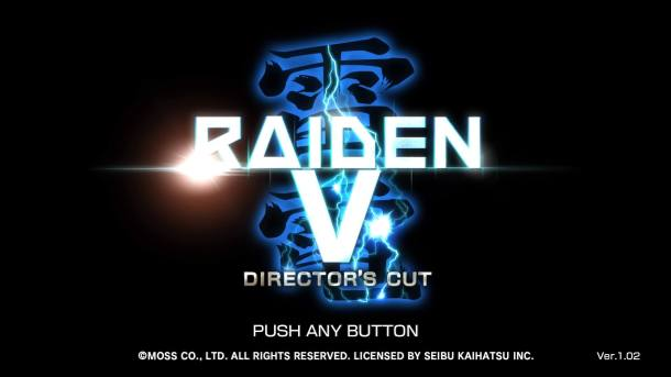Raiden V Director's Cut Title Screen
