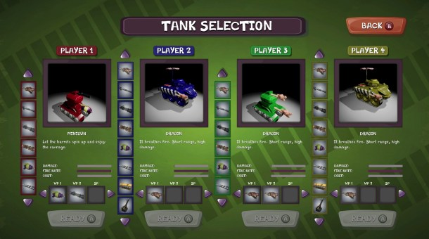Tanks Meet Zombies | Selection Screen
