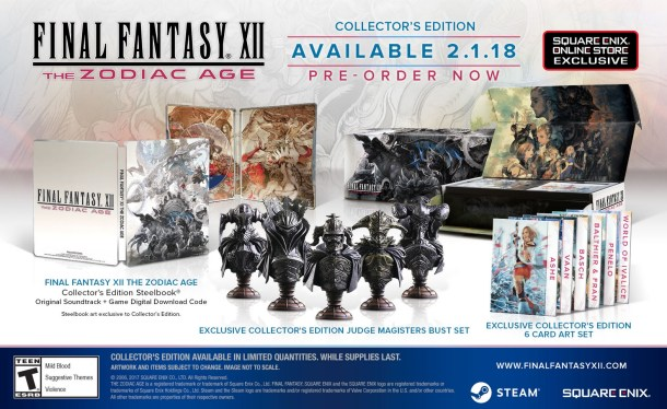 Final Fantasy XII The Zodiac Age | Collector's Edition goodies