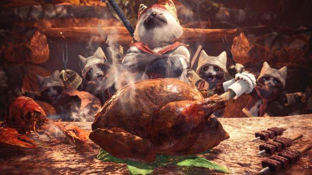 Monster Hunter World   Mewscular chef