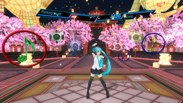Hatsune Miku VR gameplay