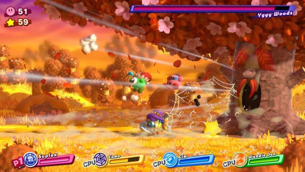 Kirby Star Allies | Yggy Woods Fight