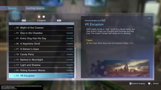 Sword Art Online: Fatal Bullet | Error