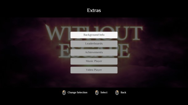 Without Escape | The Main Menu